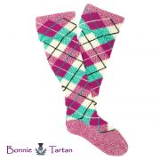 Dress Fuchsia Kerr Tartan Hose shown in Whole Diamonds with Alternating Marl