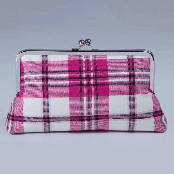 Raspberry Scott Clutch Bag