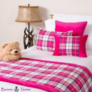 Bonnie Blush Tartan Bedding Set