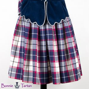 Aboyne Skirt shown in Bonnie Marine Tartan