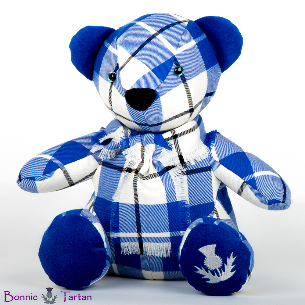 Bonnie Tartan Bear shown in Royal McRae of Conchra Tartan