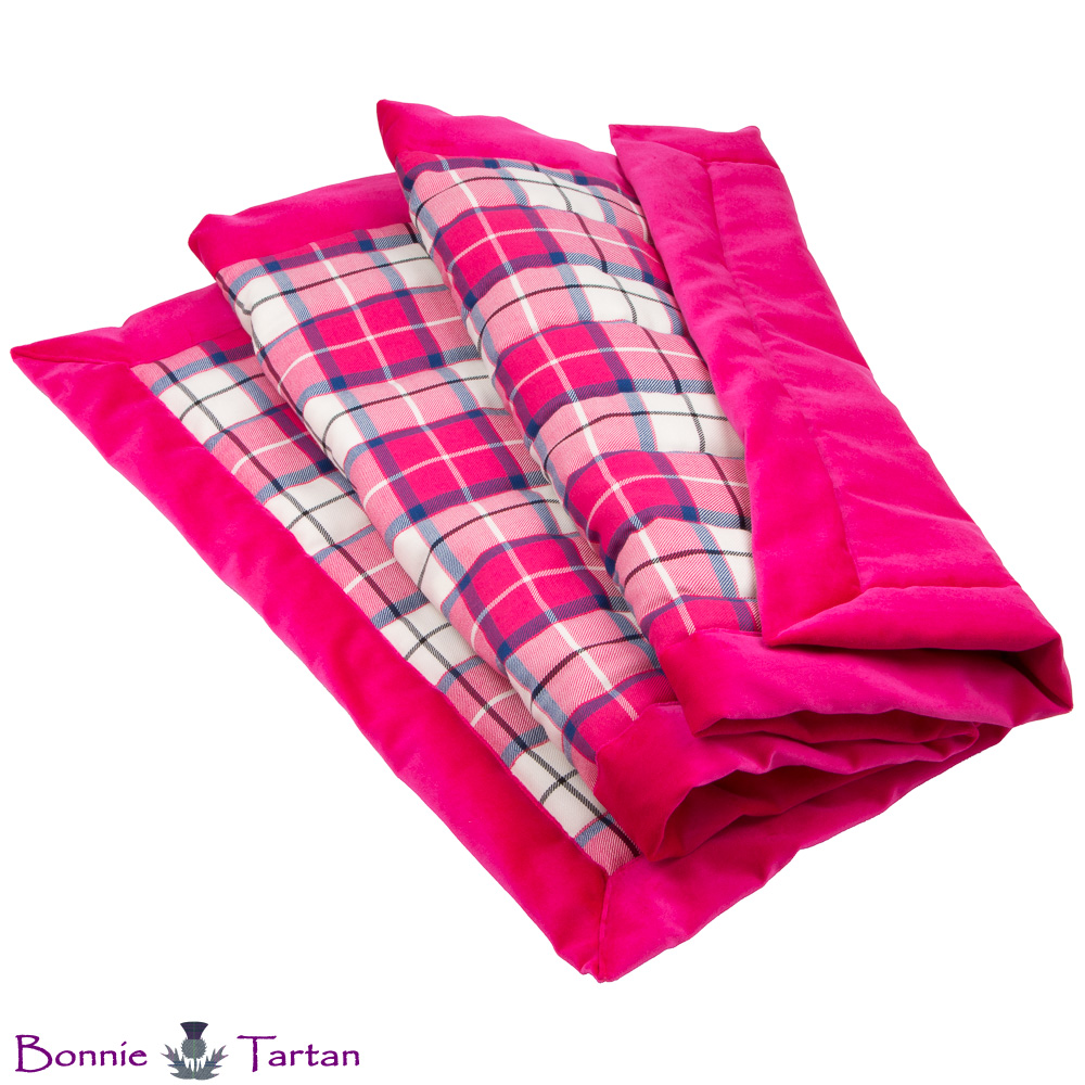 Bonnie Blush Tartan Throw