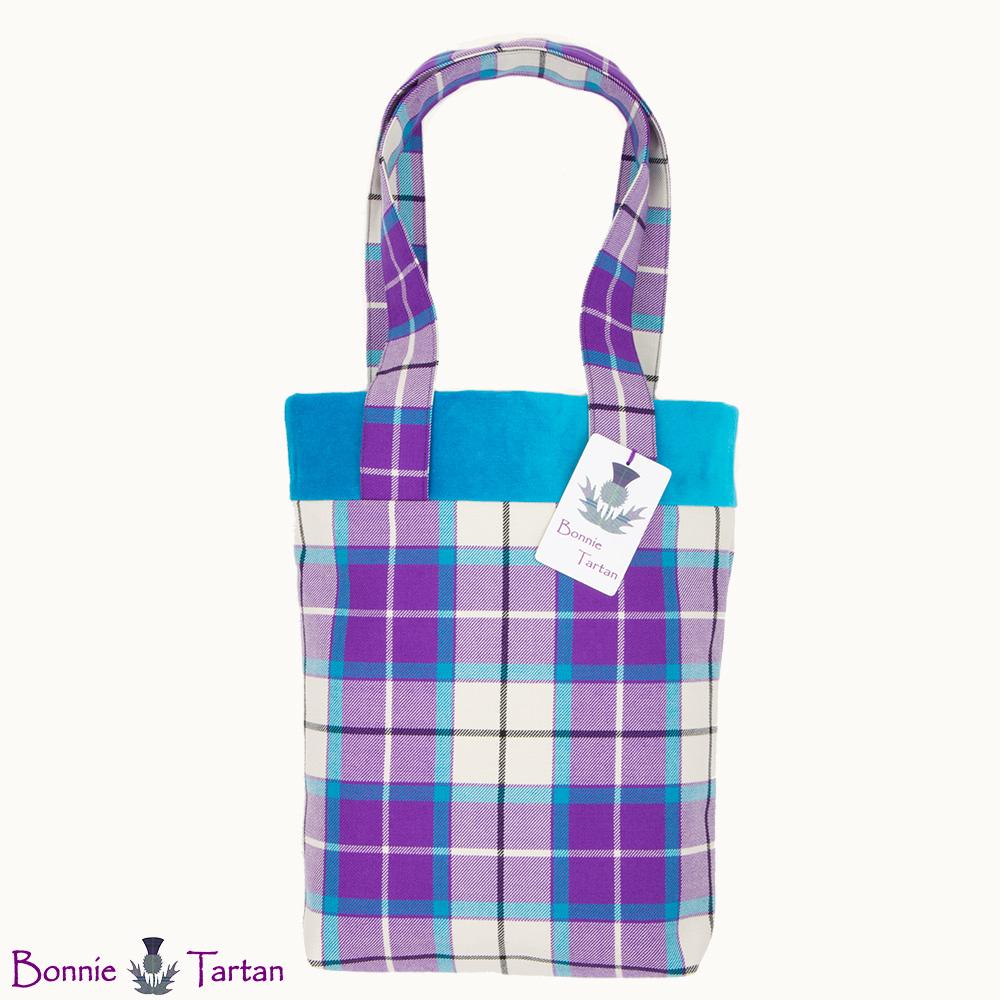 Bonnie Violet Tartan Tote Bag
