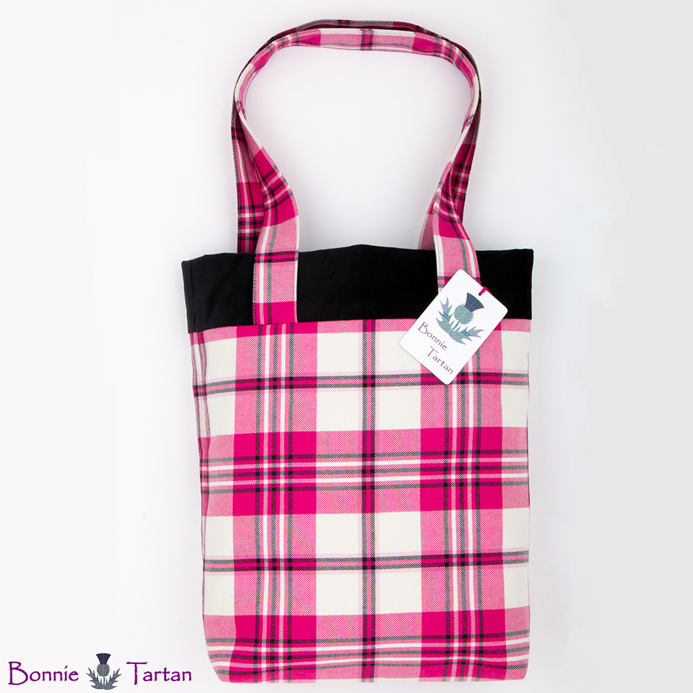 Raspberry Scott Tartan Tote Bag