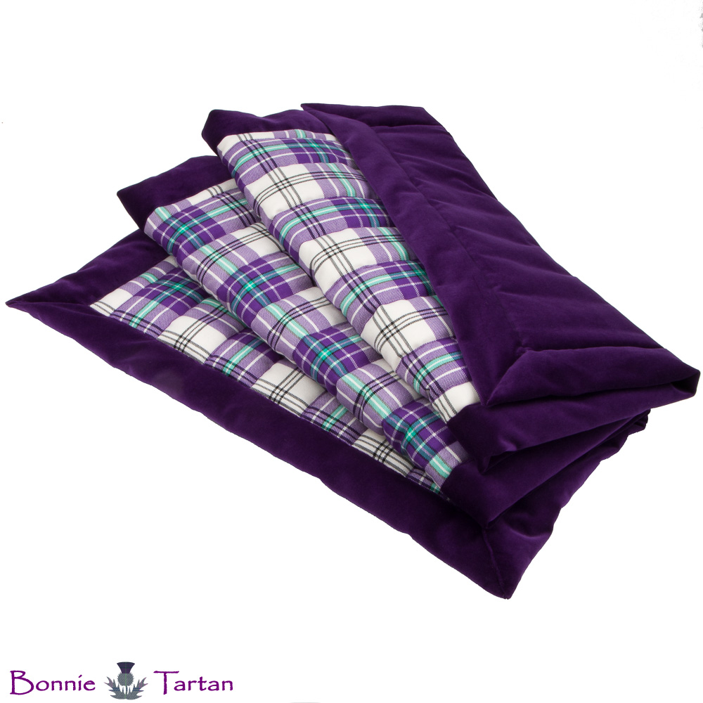 Thistle Violet Tartan Throw