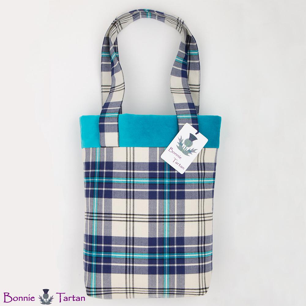 Thistle Marine Tartan Tote Bag
