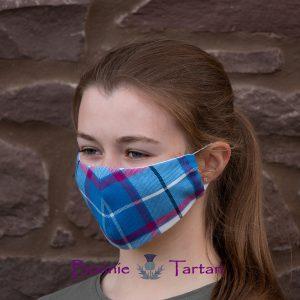 Bonnie Sky Tartan Face Mask
