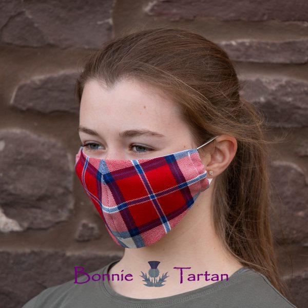 Highland Flame Tartan Face Mask