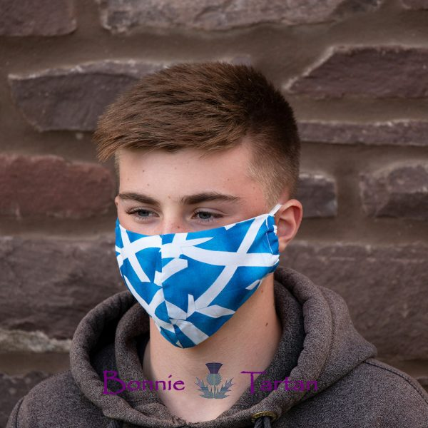 Scottish Saltire Face Mask