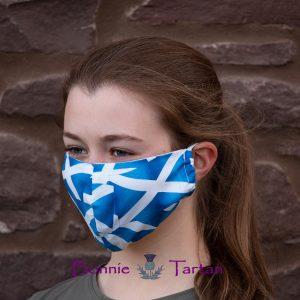 Scottish Saltire Face Mask