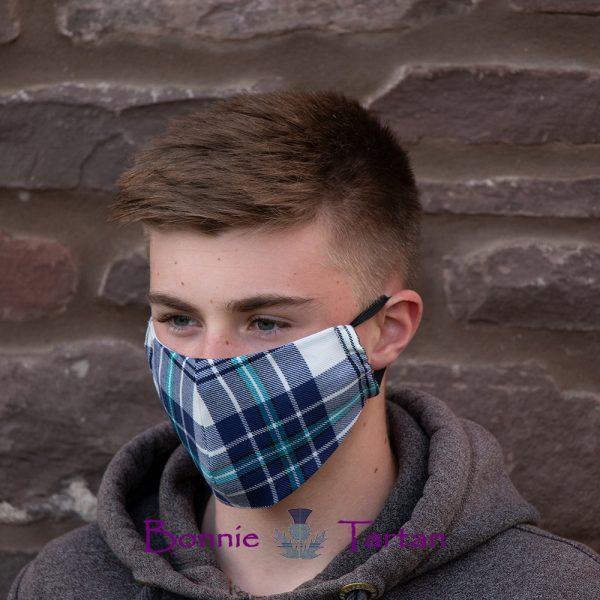 Thistle Marine Tartan Face Mask